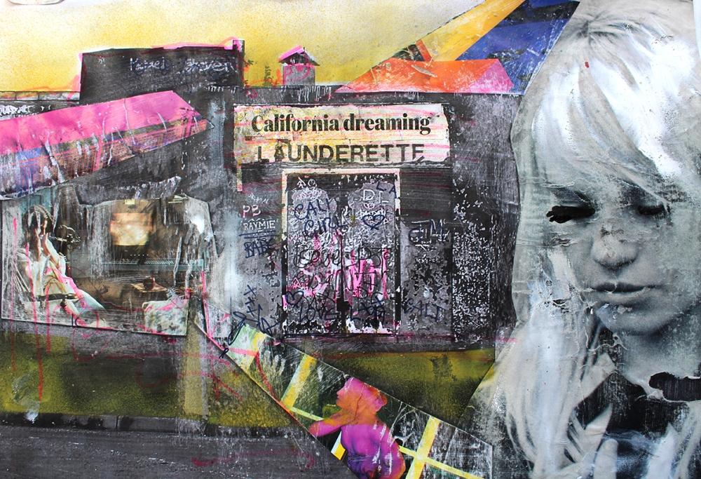 CALIFORNIA DREAMING | MISED MEDIA XEROX ART | REX LAUNDERETTE